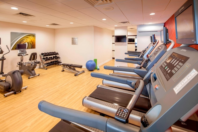 Brookline hotel with fitness center
