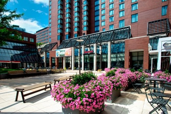 Kendall Square hotel courtyard