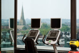 Fitness center city view