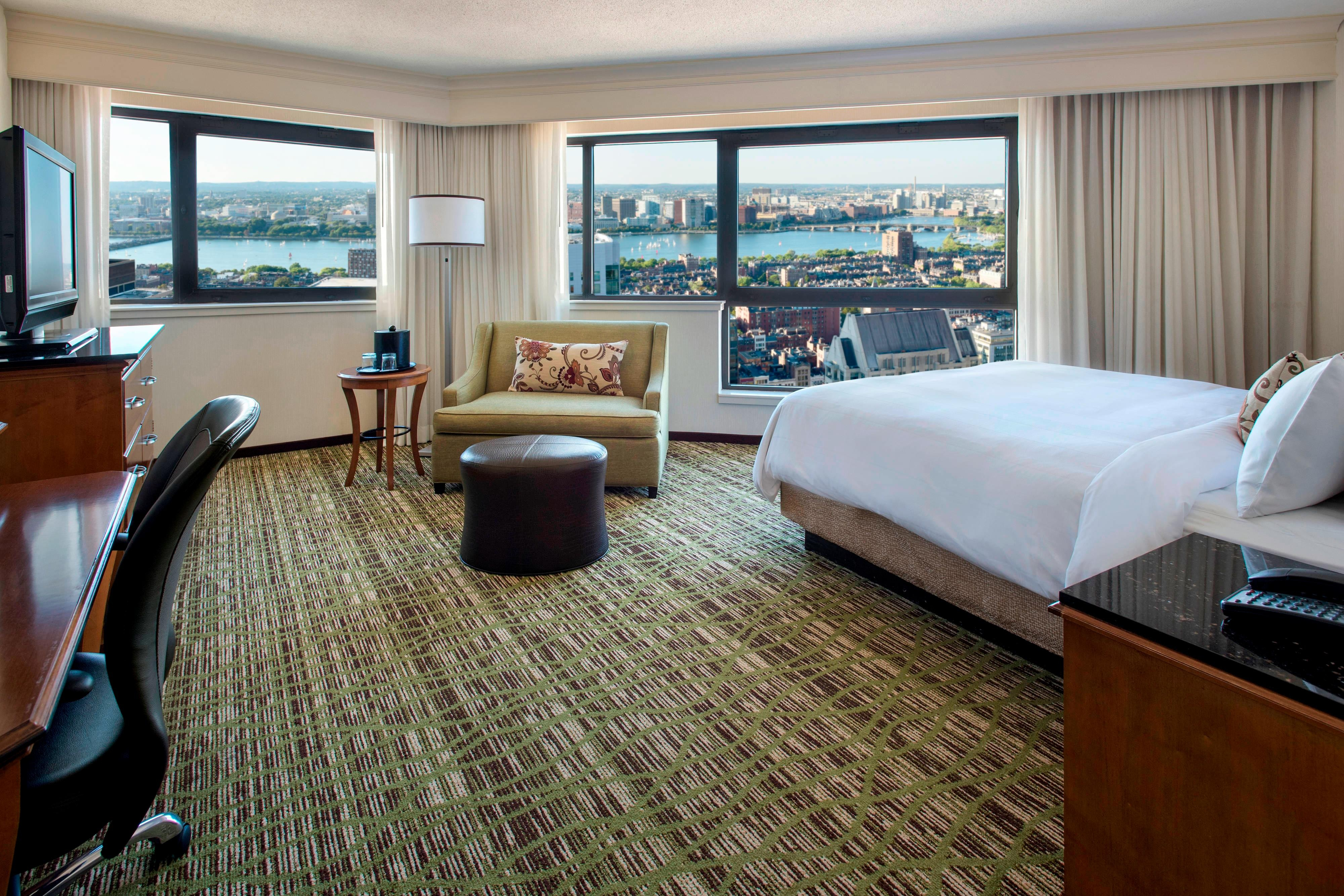 Downtown Boston Hotel Larger Corner Room
