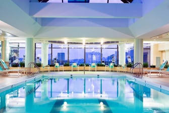 Piscina cubierta del Boston Marriott Copley Place