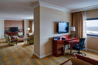 Suite del hotel en el centro de Boston