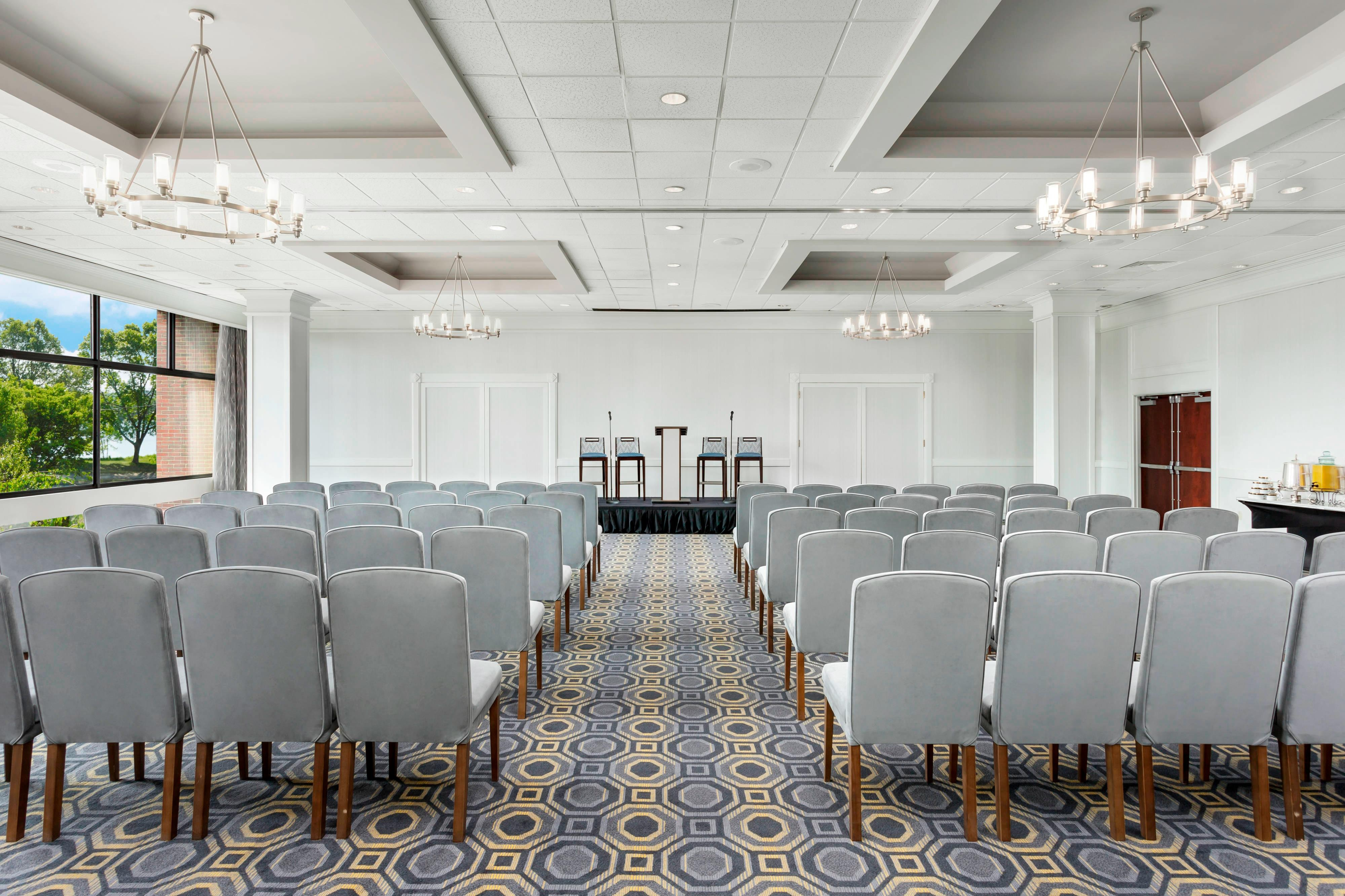 Our spacious Ballroom can easily accommodate a large crowd.