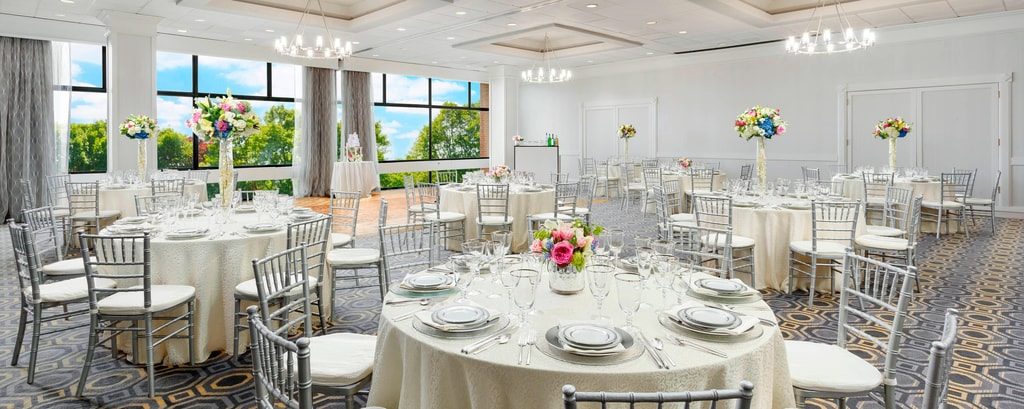 Our spacious ballroom can easily host formal events.