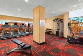 Enjoy the view of the Charles River from our Gym!