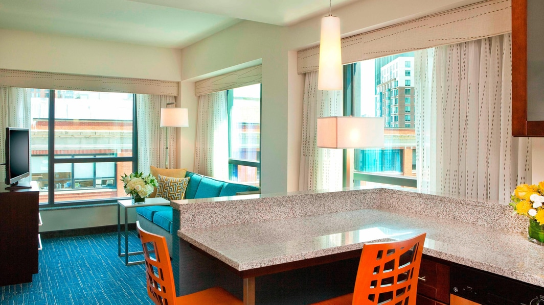 Suite del Residence Inn Boston Fenway
