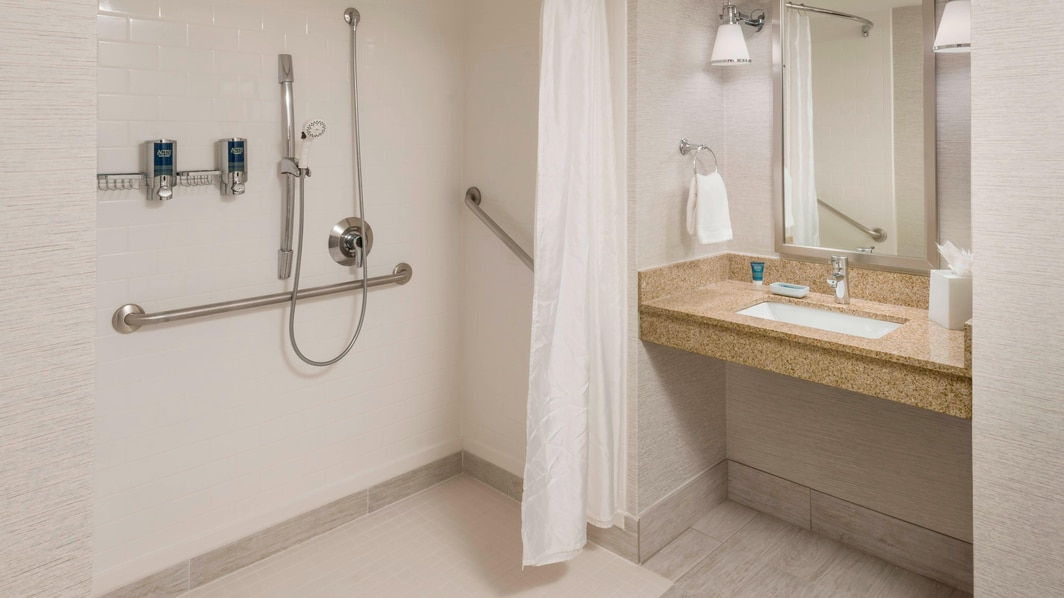 Accessible Bathroom - Roll In Shower