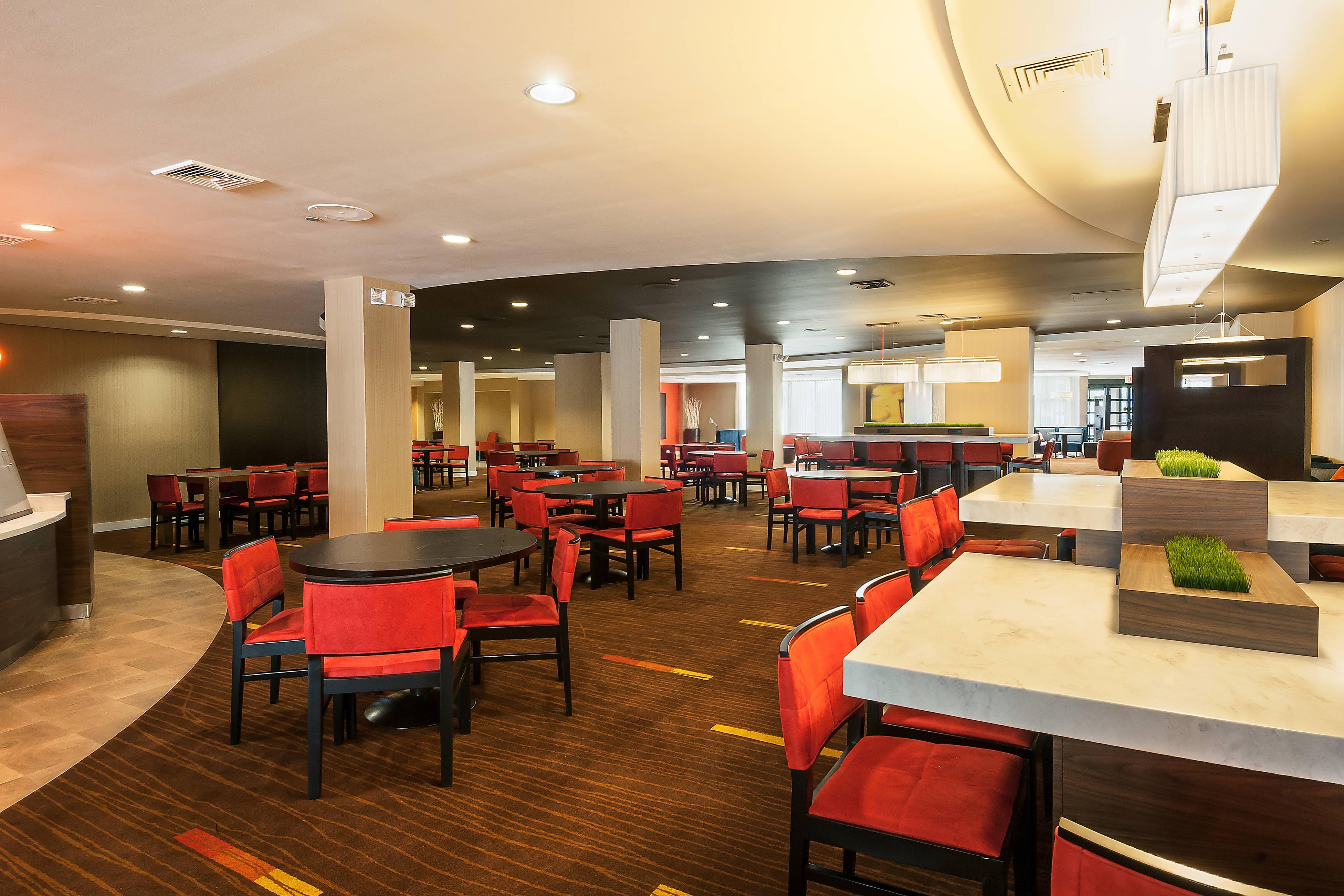Marlborough, MA hotel lobby seating