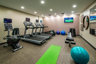 fitness center, extended stay hotel