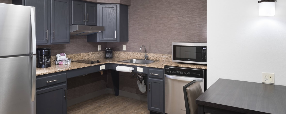 Fully equipped ADA accessible suite kitchen