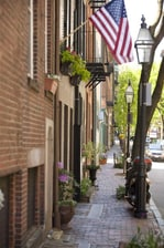 Historic Beacon Hill in Boston