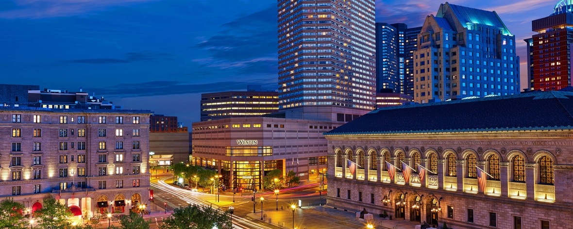 Back Bay Boston Hotel | The Westin Copley Place, Boston Downtown Boston Hotels Map on