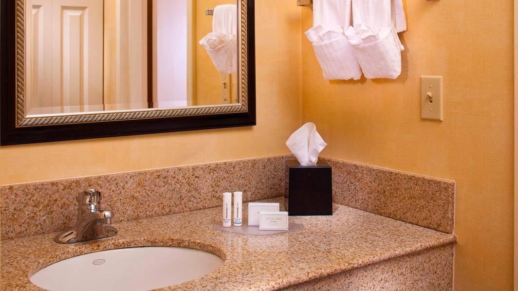 LSU Hotel Guest Bathroom