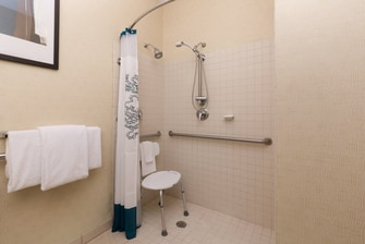 Baton Rouge Hotel Accessible Shower