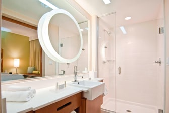 Gonzales hotel suite bathroom