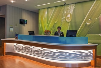 Gonzales hotel reception desk