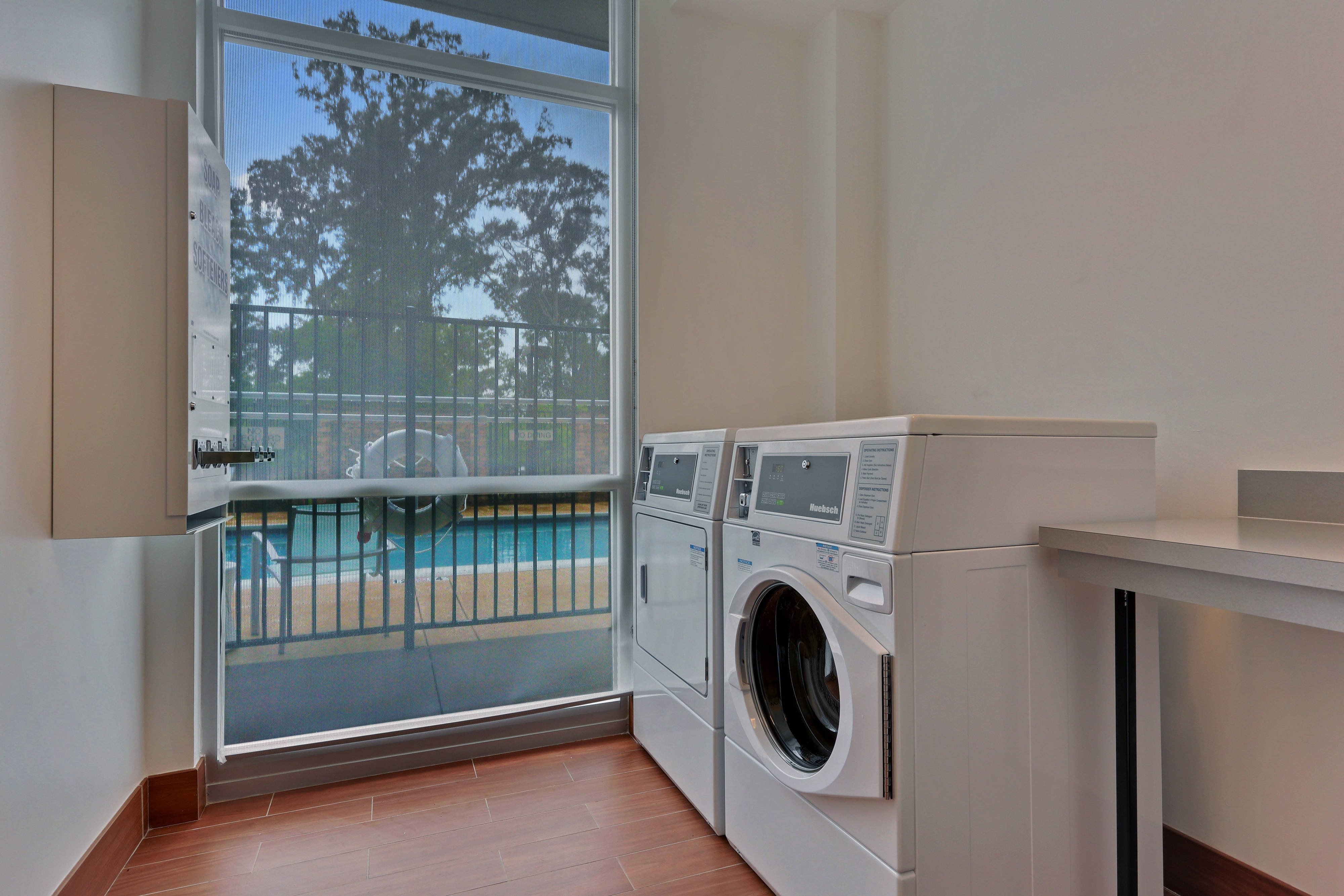 Gonzales hotel laundry room