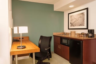 Desk and wet bar