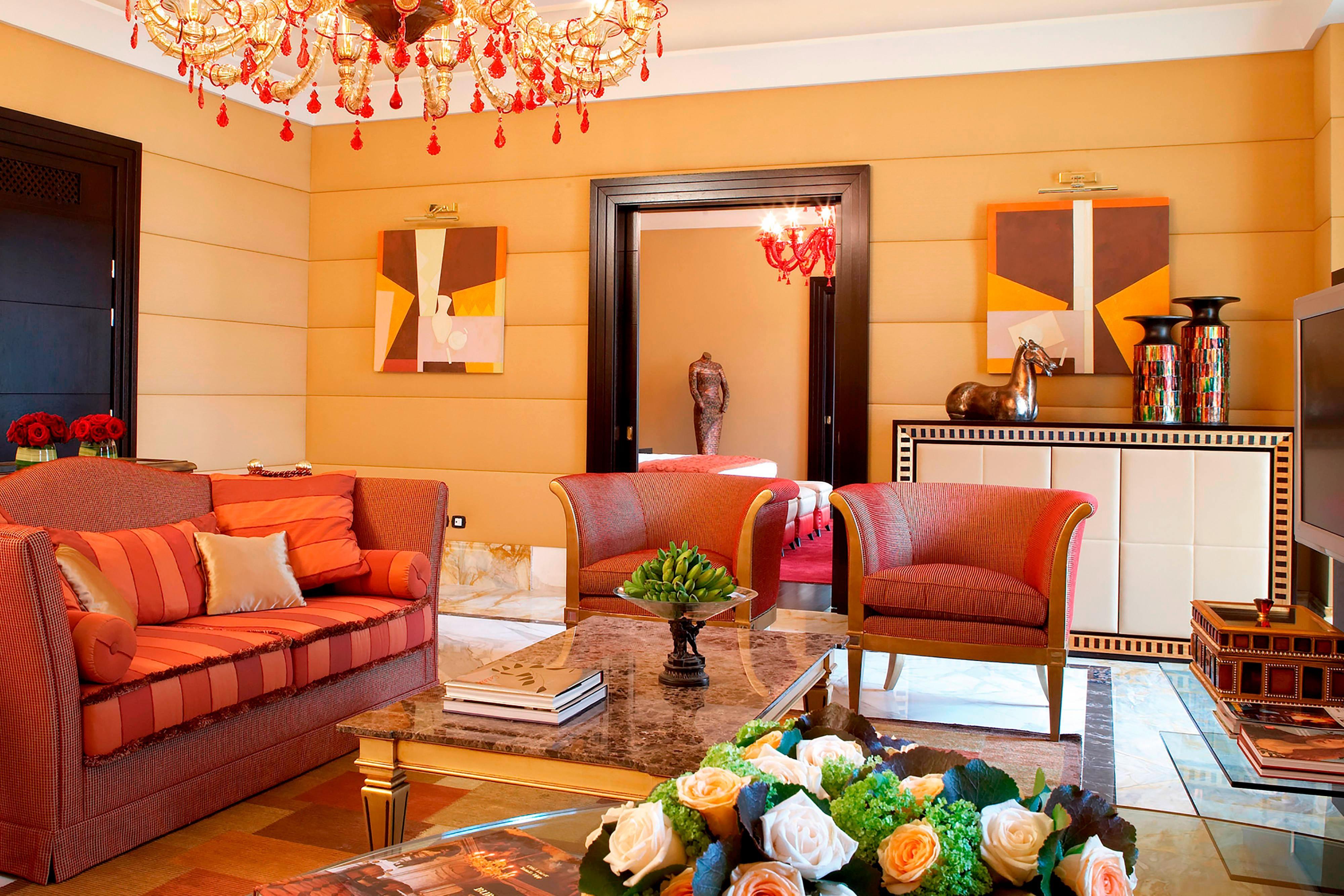 Wohnbereich der Suite in Budapest