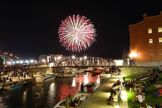 Erie Canal Fireworks