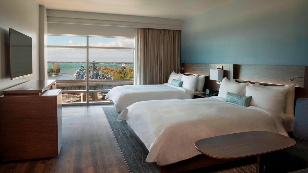 Habitación con dos camas Queen del hotel Marriott en Búfalo
