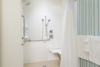 Buffalo NY Hotel Accessible Roll-In Shower