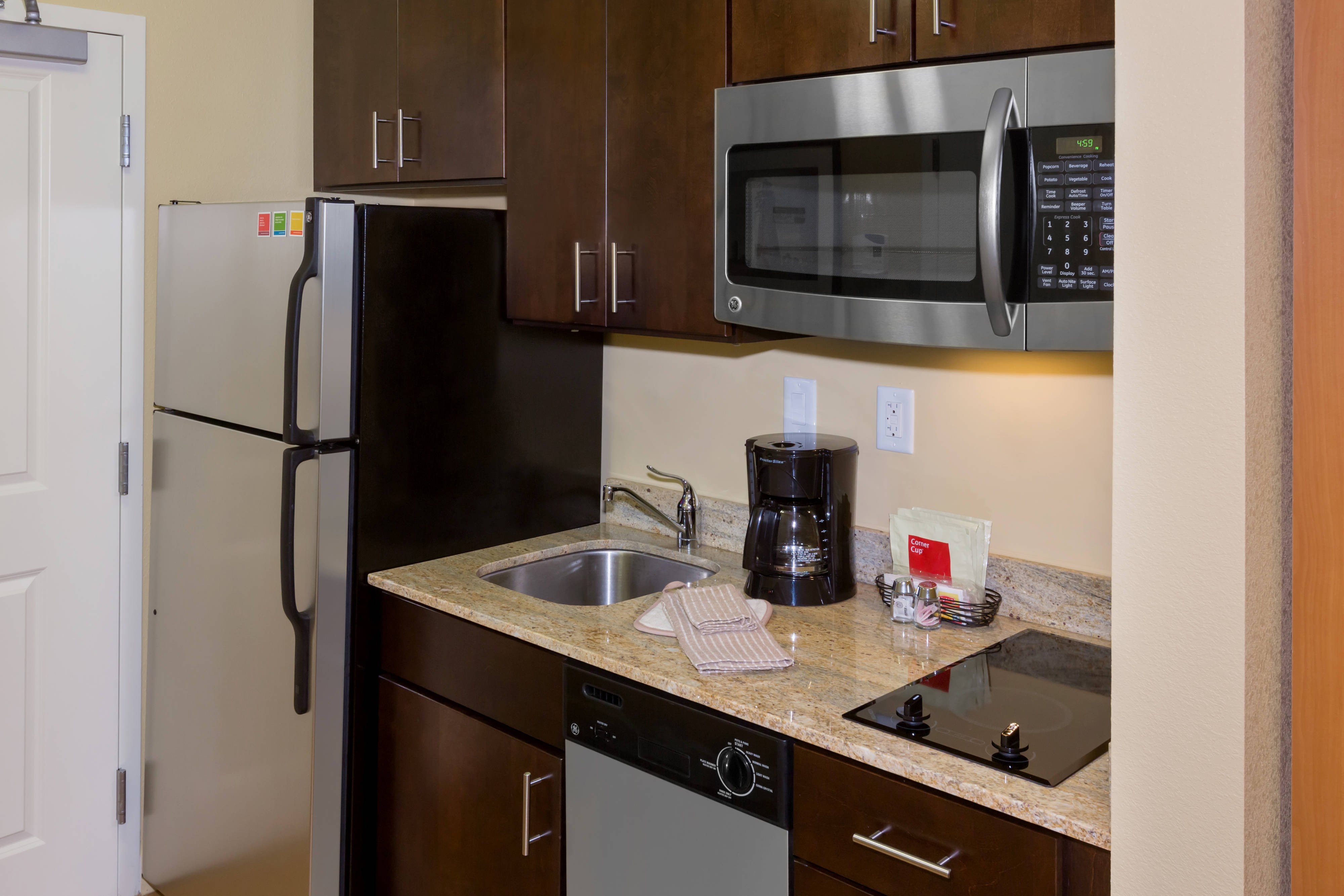Studio Suite Kitchen at Buffalo Airport Hotel