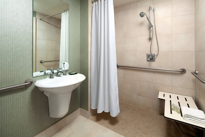 ADA Roll in Shower Bathroom