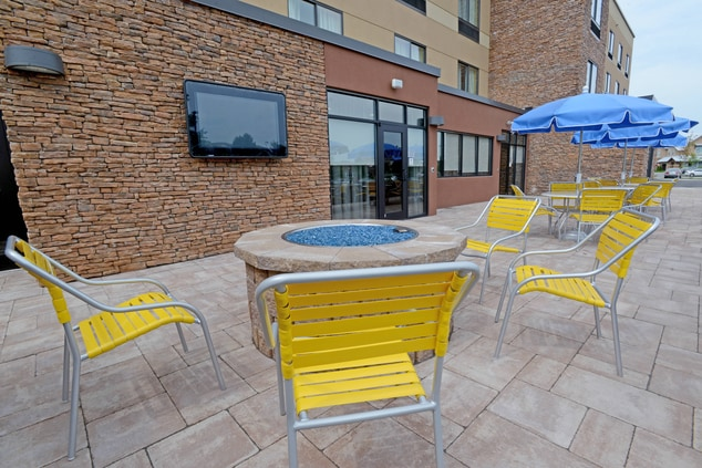 Patio Area Featuring our Fire Pit