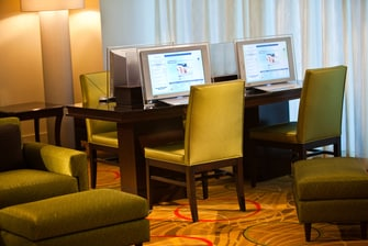 BWI hotel lobby business area