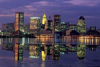 Downtown Baltimore skyline