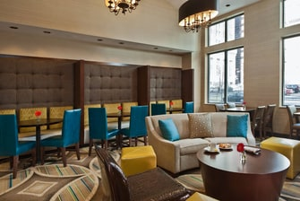 Downtown Baltimore hotel lounge