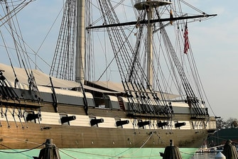 USS Constellation in Baltimore Harbor