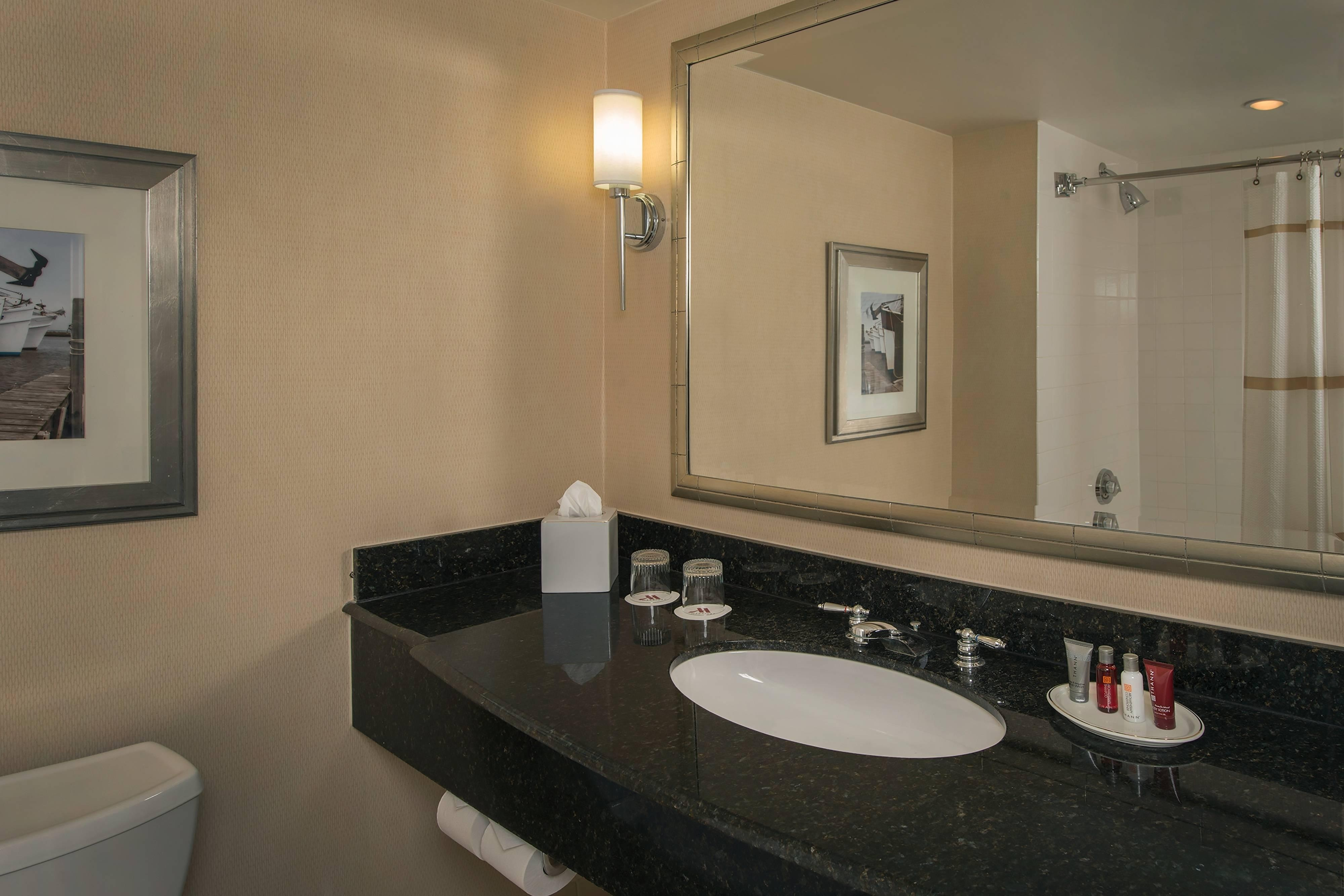 Downtown Baltimore hotel guest bathroom