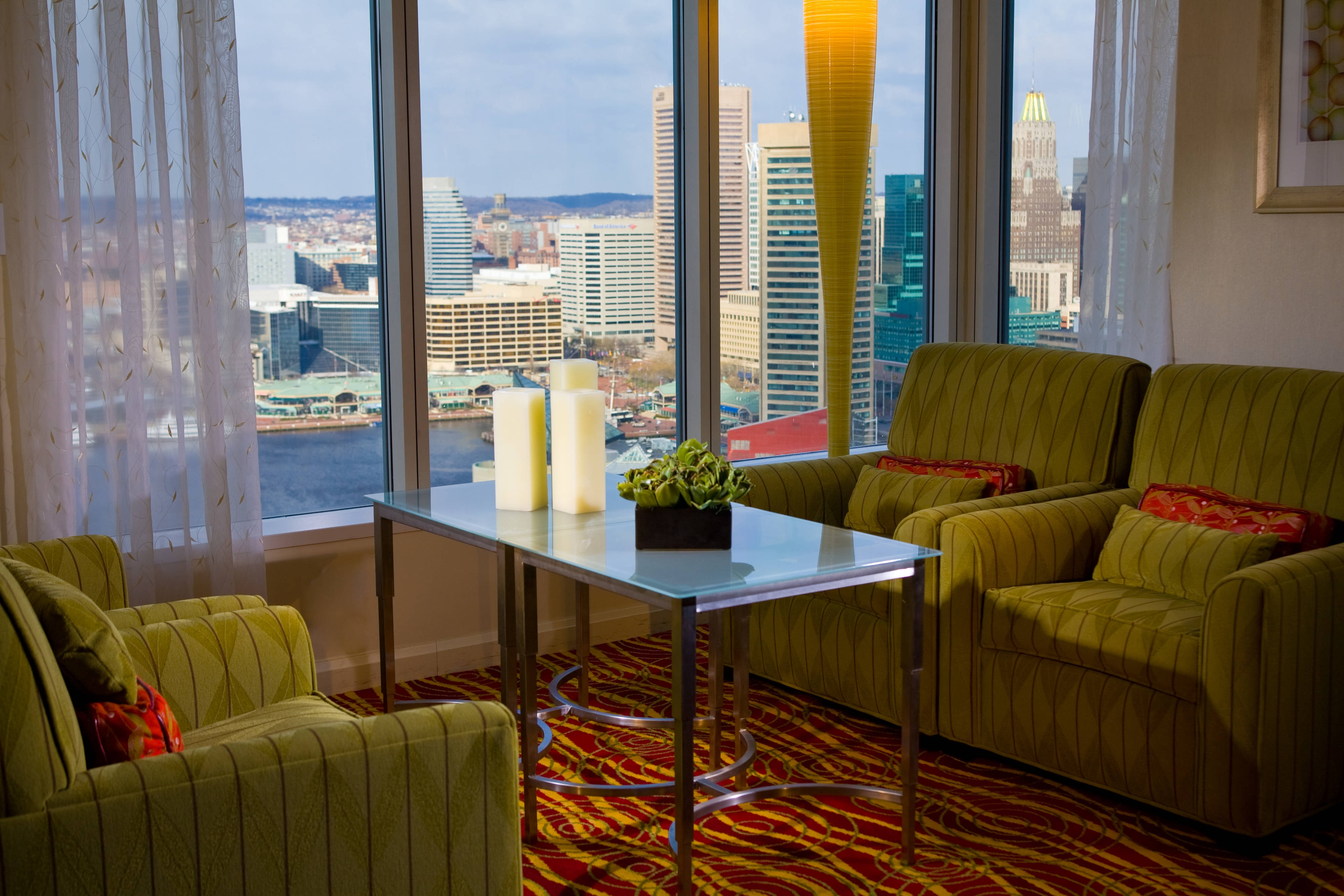 Downtown Baltimore hotel concierge lounge