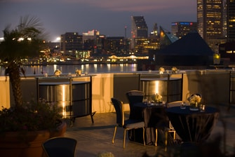 Baltimore hotel outdoor terrace