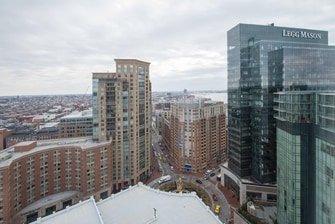Downtown Baltimore hotel city view