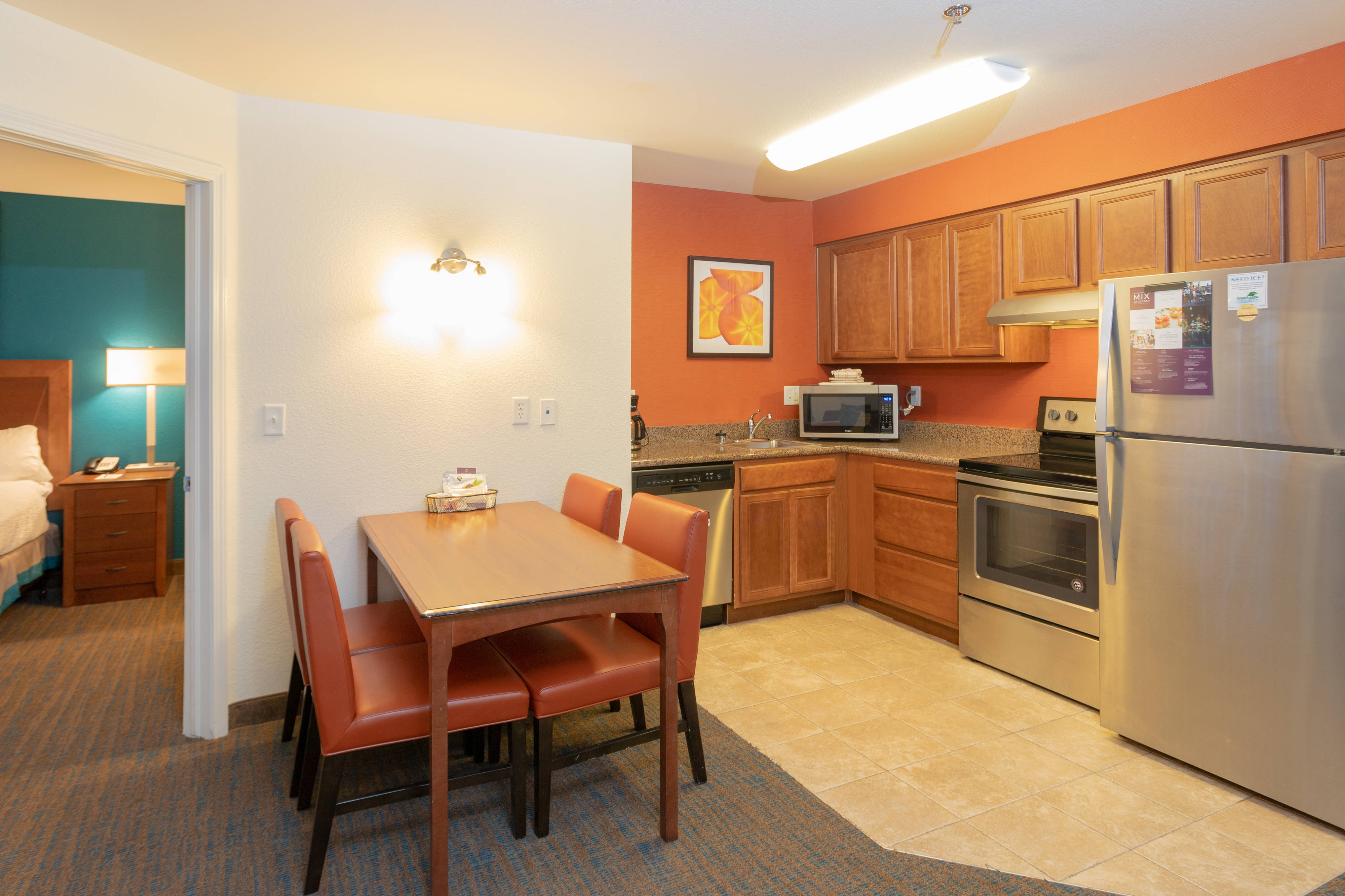 Two-Bedroom Suite - kitchen & Dining Area
