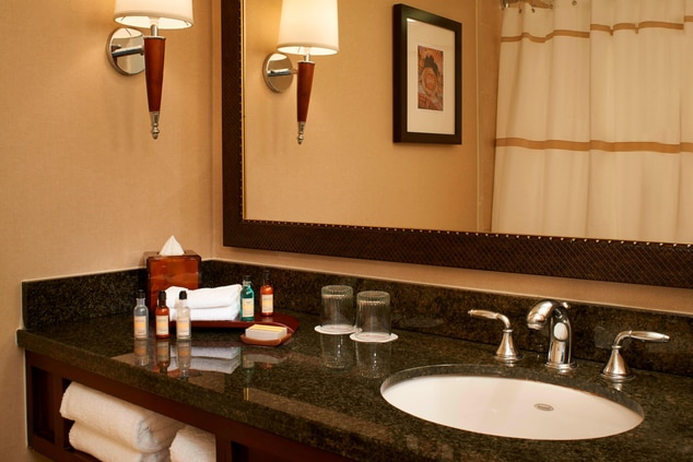 Hotel bathroom in Columbia SC
