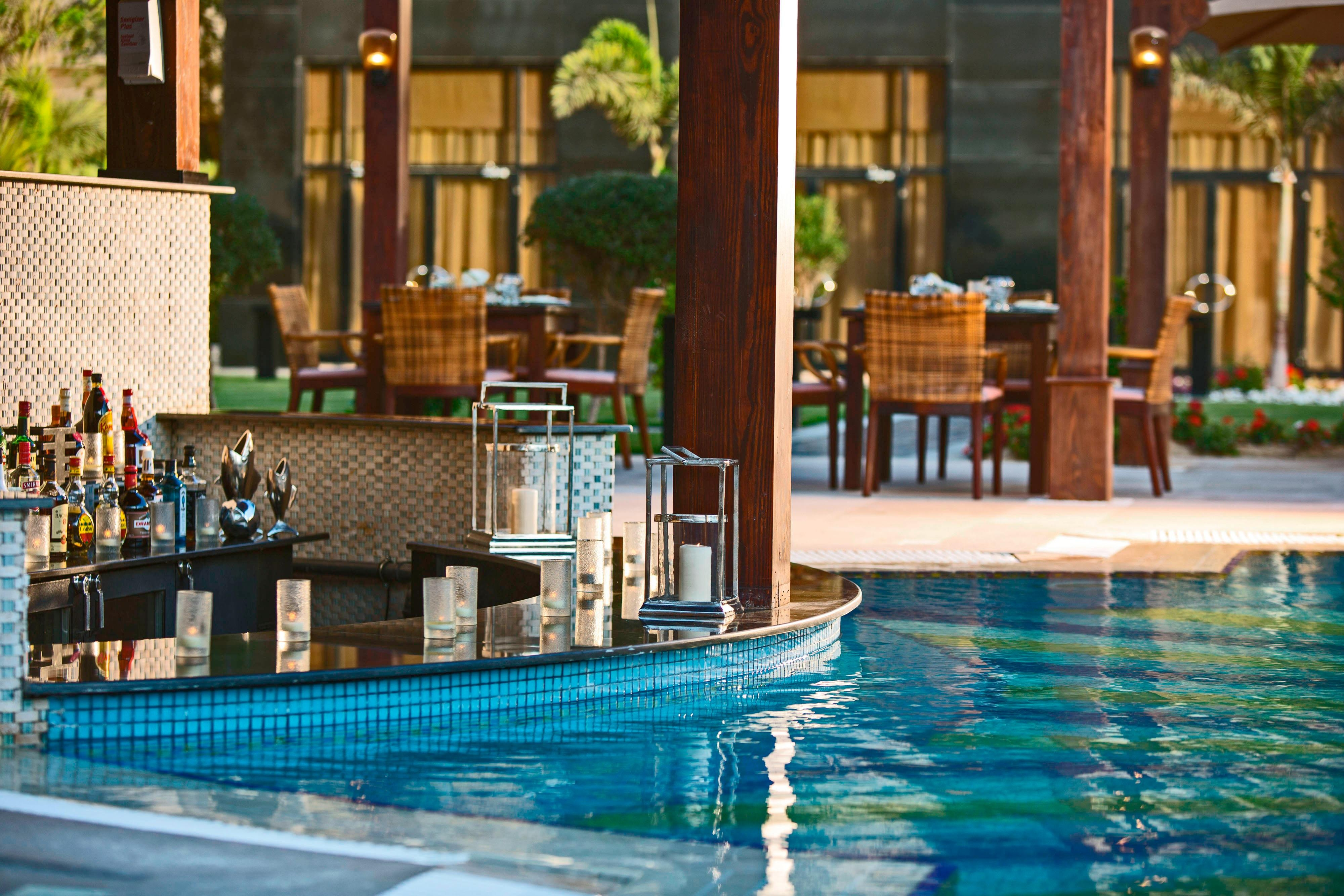 Poolside bar at Cairo hotel