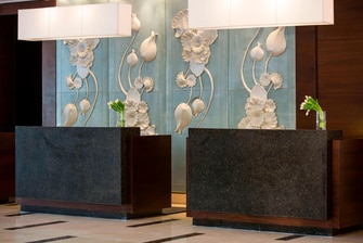 Luxury Cairo hotel reception desk