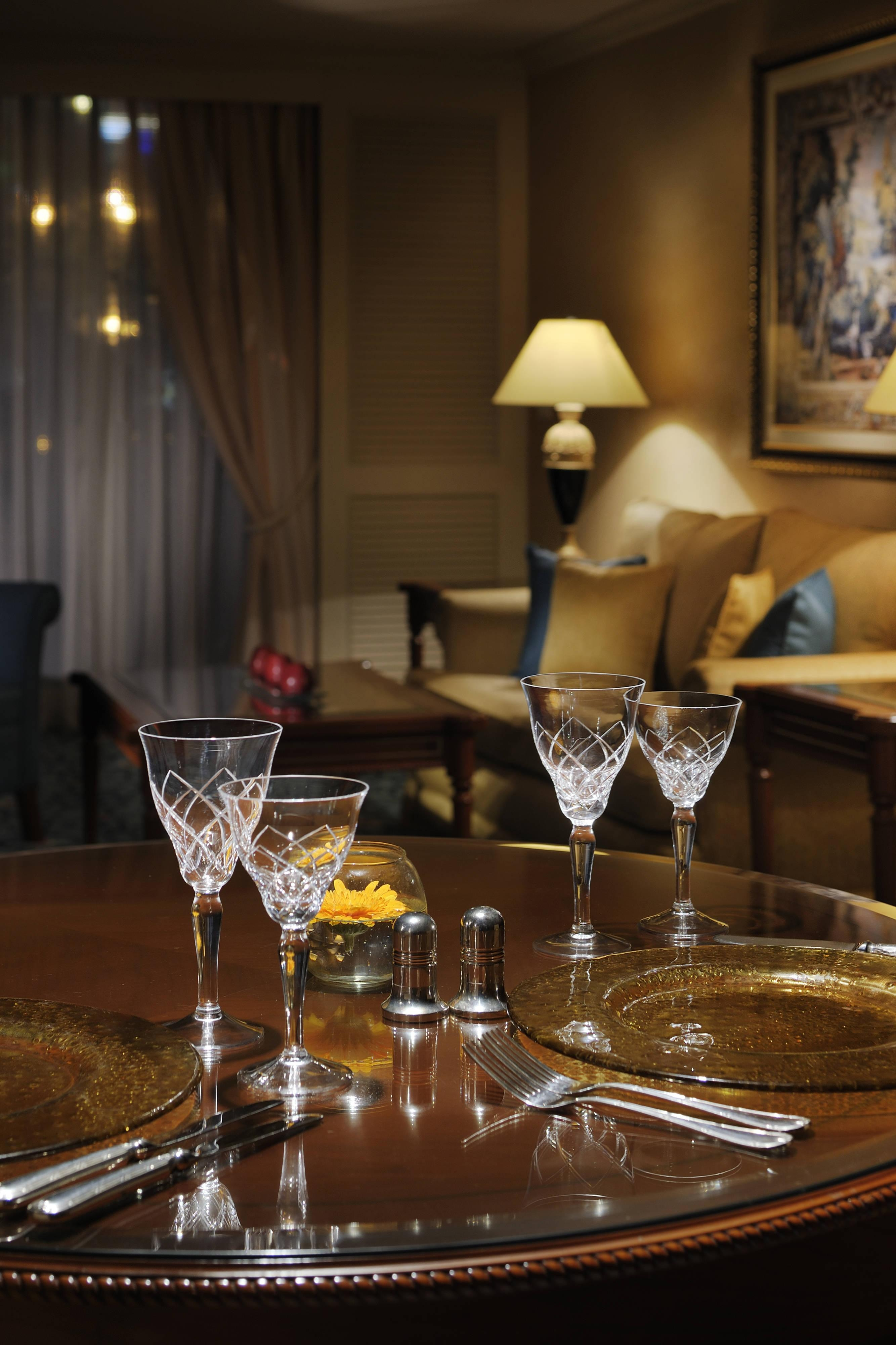 Diplomatic Suite Dining & Living Area