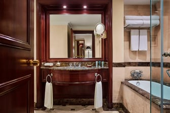Guest bathroom in Cairo hotel