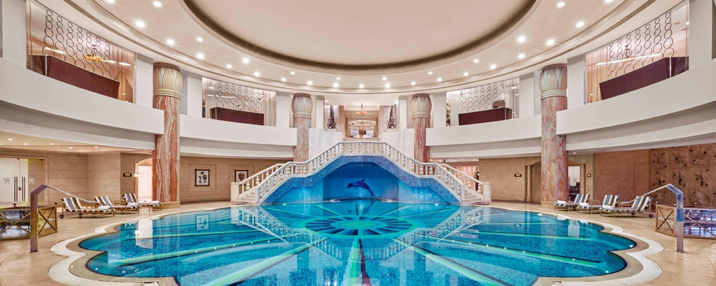 Luxury Cairo hotel indoor pool