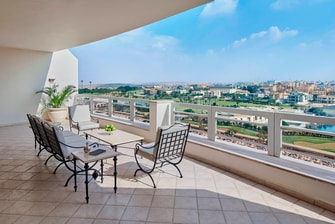 5-star Cairo hotel suite terrace