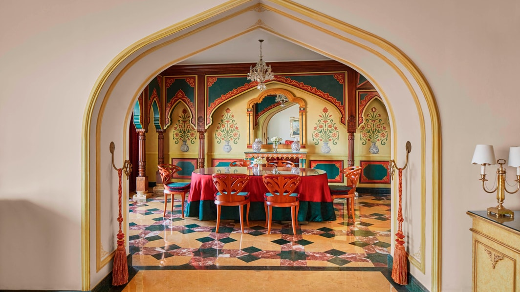 Dining room in Cairo suite