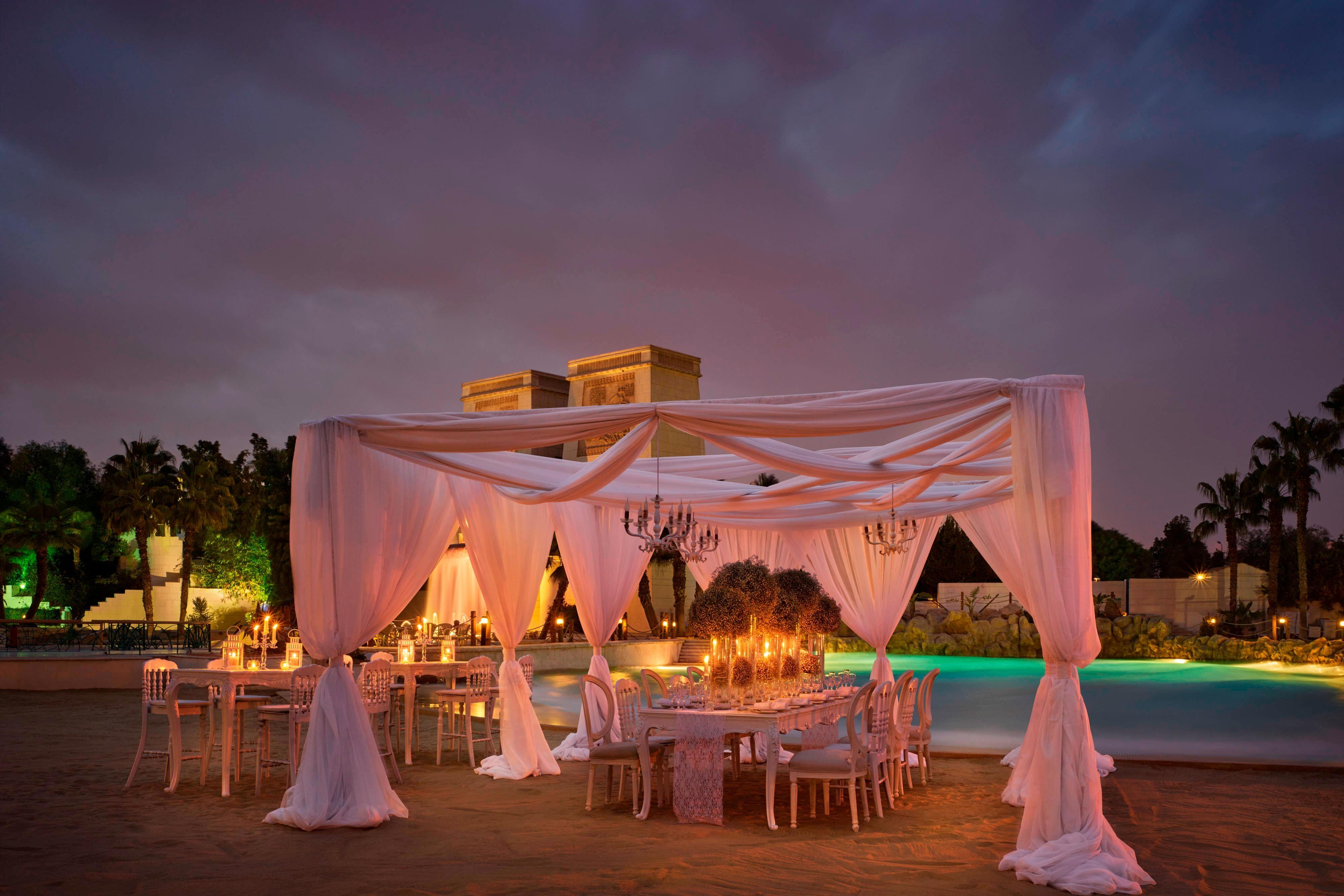 Outdoor wedding venue in Cairo