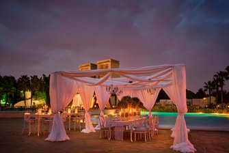 Outdoor wedding venue in Cairo