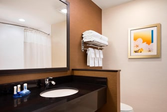 Akron Hotel Room Suite Bathroom