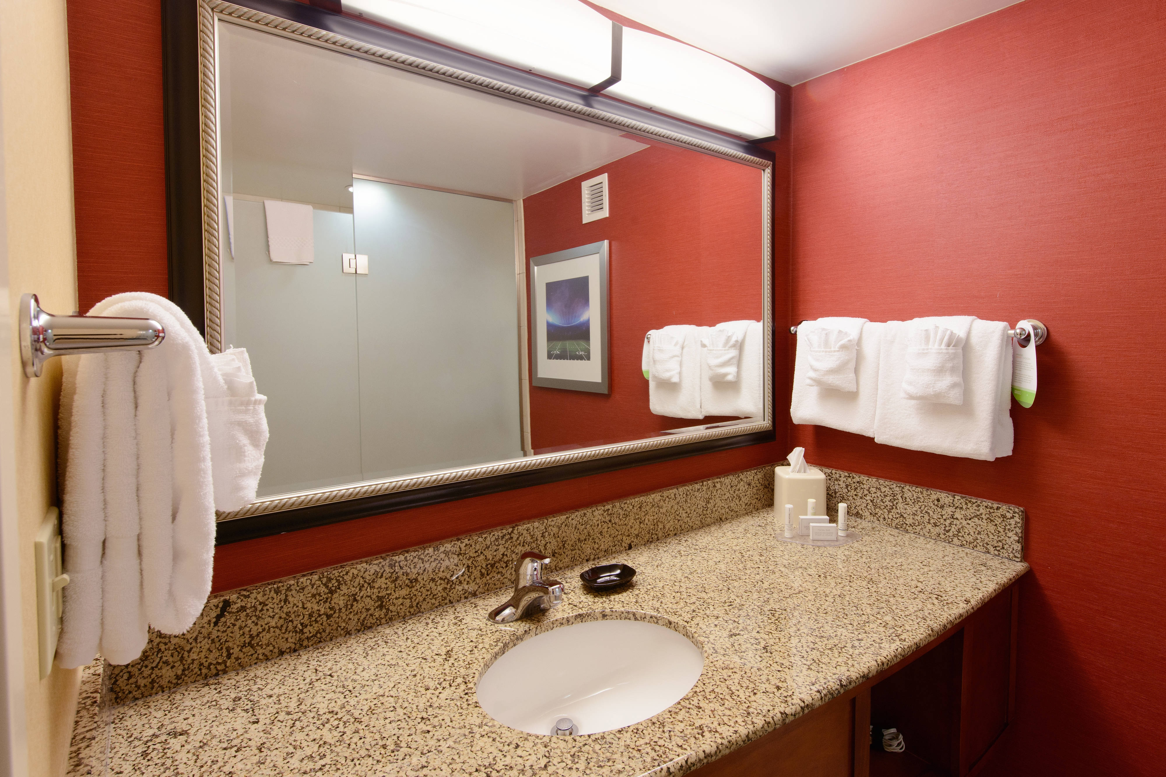 Suite bathroom in Canton hotel